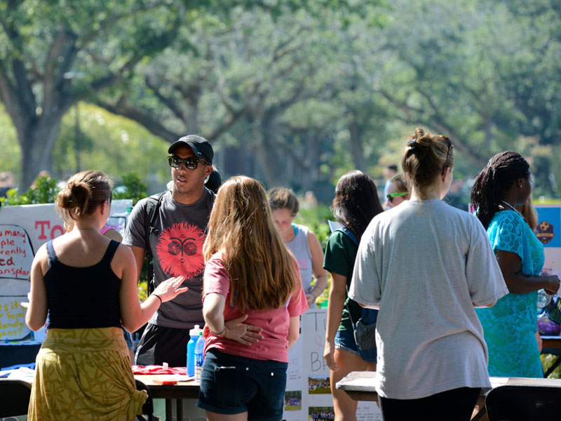 Student Activity Expo on Campus